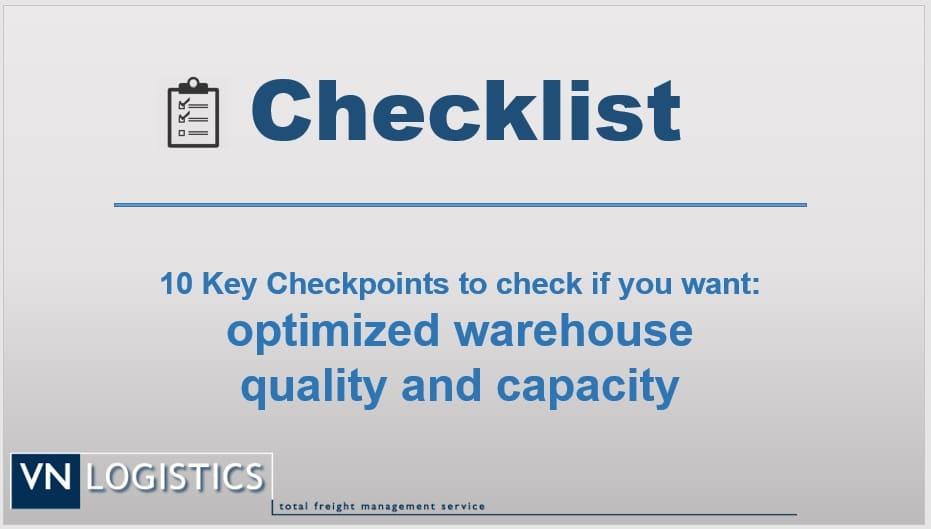 Warehouse checklist VN Logsitics